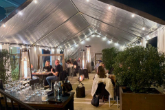 ASA Covered Outdoor Patio at night